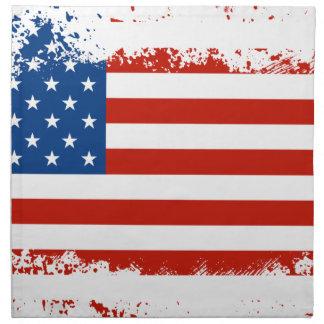 Amerikanische Flagge beunruhigt Stoffserviette