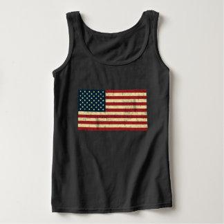 Amerikanische Flagge beunruhigt Tank Top