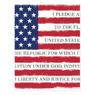 Amerikanische Flagge Bürgschaft Vintag Postkarte