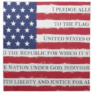 Amerikanische Flagge Bürgschaft Vintag Serviette