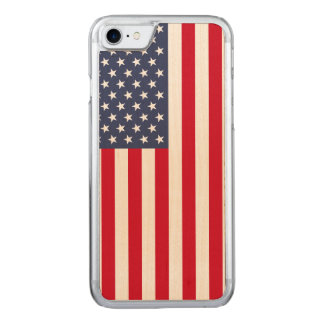 Amerikanische Flagge carved® Ahorn iPhone 7 Carved iPhone 8/7 Hülle