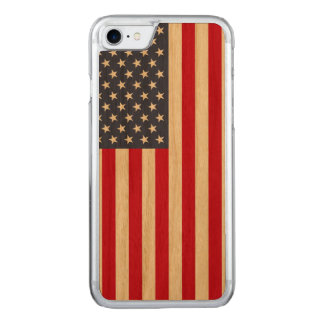 Amerikanische Flagge Carved® KirscheiPhone 7 Carved iPhone 8/7 Hülle