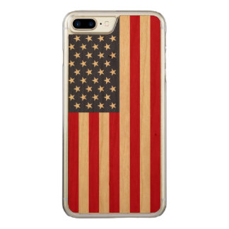 Amerikanische Flagge Carved® KirscheiPhone 7 Carved iPhone 8 Plus/7 Plus Hülle