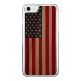 Amerikanische Flagge carved® Walnuss iPhone 6 Carved iPhone 8/7 Hülle