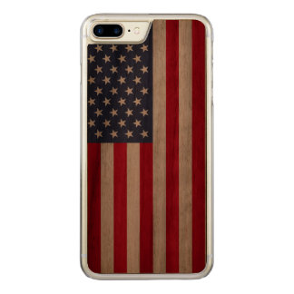 Amerikanische Flagge carved® Walnuss iPhone 7 Carved iPhone 8 Plus/7 Plus Hülle