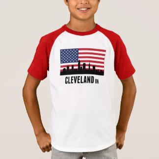 Amerikanische Flagge Clevelands OH- T-Shirt