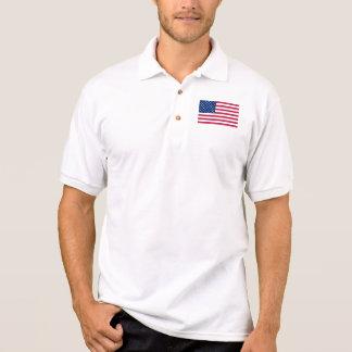 Amerikanische Flagge der USA der Männer hat Poloshirt