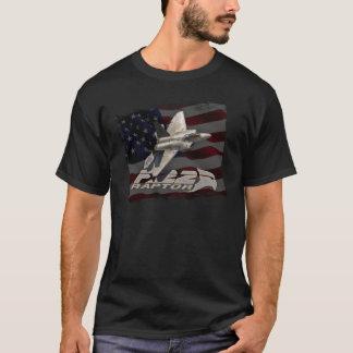 Amerikanische Flagge des Raubvogel-F-22 T-Shirt