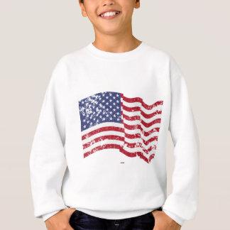 Amerikanische Flagge, die - beunruhigt wellenartig Sweatshirt