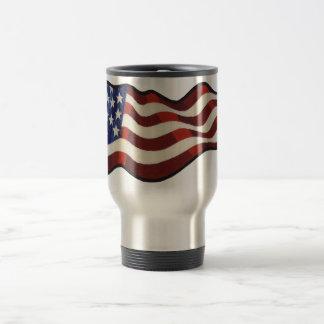 Amerikanische Flagge, die Thermo Tasse wellenartig