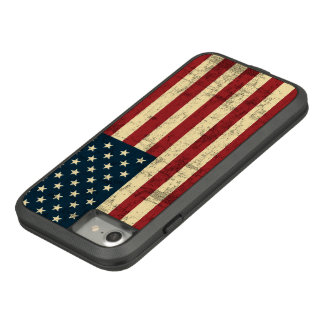 Amerikanische Flagge gealtert beunruhigt Case-Mate Tough Extreme iPhone 8/7 Hülle
