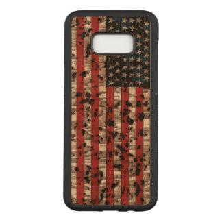 Amerikanische Flagge gealtert Carved Samsung Galaxy S8+ Hülle