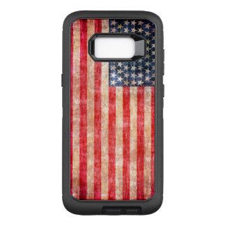 Amerikanische Flagge gealtert OtterBox Defender Samsung Galaxy S8+ Hülle
