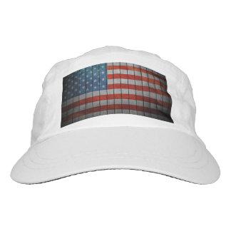 Amerikanische Flagge gemalter Zaun Headsweats Kappe