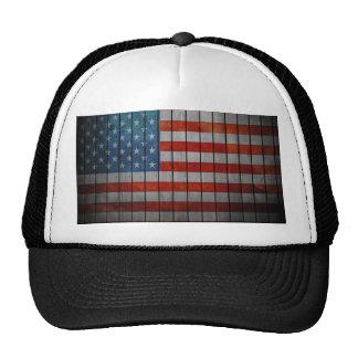Amerikanische Flagge gemalter Zaun Mützen