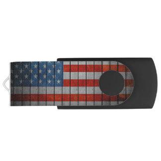 Amerikanische Flagge gemalter Zaun USB Stick