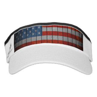 Amerikanische Flagge gemalter Zaun Visor