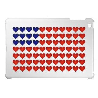 Amerikanische Flagge hergestellt von den Herzen iPad Mini Hülle
