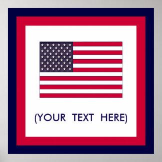 Amerikanische Flagge (Ihr Text) Poster