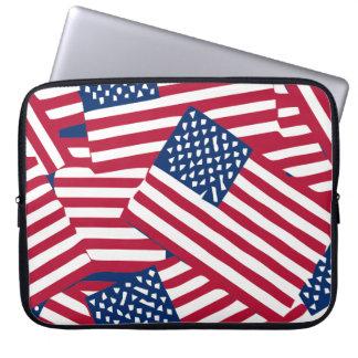 Amerikanische Flagge in der Deckung Laptop Sleeve