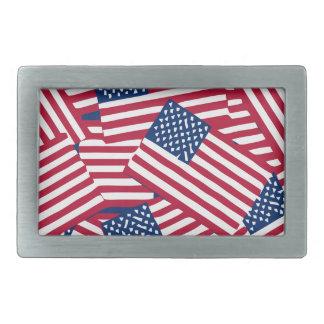 Amerikanische Flagge in der Deckung Rechteckige Gürtelschnalle