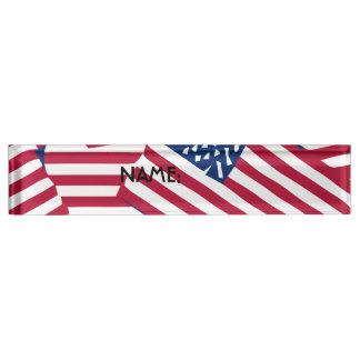 Amerikanische Flagge in der Deckung Schreibtischplakette
