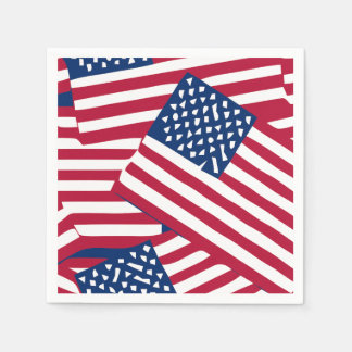 Amerikanische Flagge in der Deckung Serviette