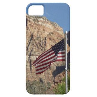 Amerikanische Flagge in Zion Nationalpark I iPhone 5 Schutzhülle