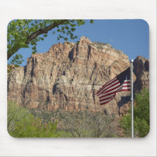 Amerikanische Flagge in Zion Nationalpark I Mousepad