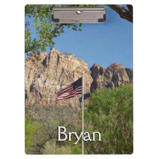 Amerikanische Flagge in Zion Nationalpark II Klemmbrett