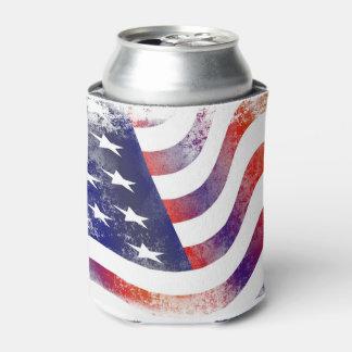 Amerikanische Flagge kann cooler Dosenkühler