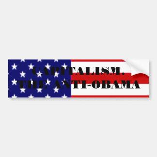 amerikanische Flagge, KAPITALISMUS. DAS ANTI-OBAMA Auto Aufkleber