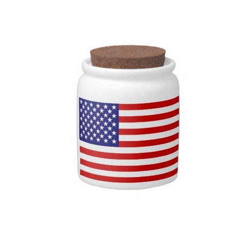 Amerikanische Flagge Plätzchendose