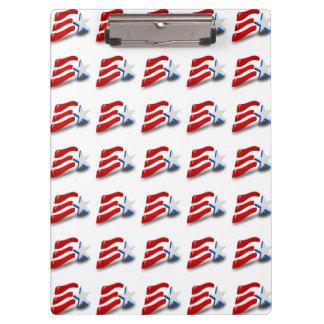 AMERIKANISCHE FLAGGE KLEMMBRETT
