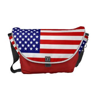Amerikanische Flagge Kuriertasche