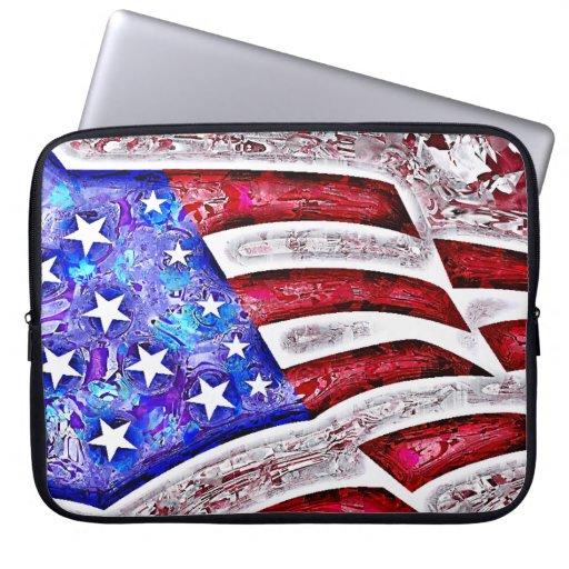 AMERIKANISCHE FLAGGE Laptop-Hülse Computer Schutzhüllen