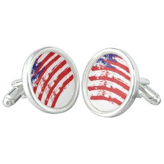 Amerikanische Flagge Manschettenknöpfe