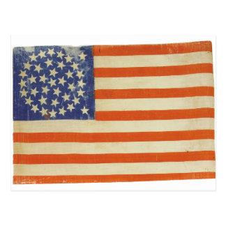 Amerikanische Flagge mit 38 Sternen Postkarte