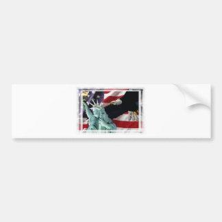 Amerikanische Flagge mit Amerikaner Eagle u. Dame  Autoaufkleber