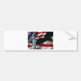 Amerikanische Flagge mit Amerikaner Eagle u. Dame  Autosticker
