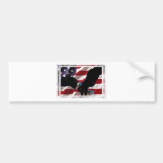 Amerikanische Flagge mit amerikanischem Weißkopfse Auto Sticker