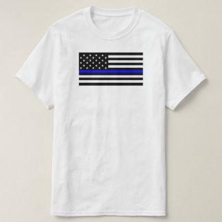 Amerikanische Flagge mit dünner Blue T-Shirt