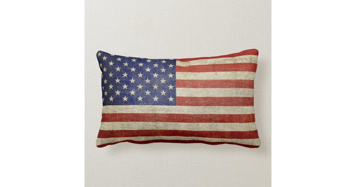 amerikanische flagge mit vintagem ende lendenkissen zazzle. Black Bedroom Furniture Sets. Home Design Ideas