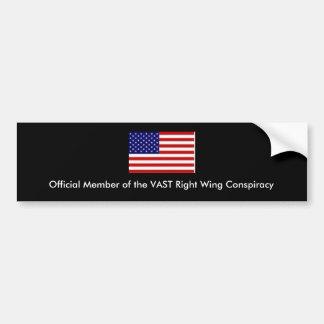 Amerikanische Flagge, offizielles Mitglied des Autoaufkleber