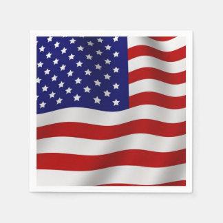 Amerikanische Flagge Papierserviette