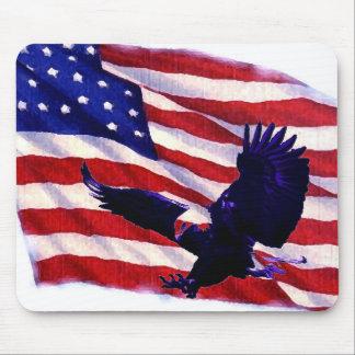 Amerikanische Flagge Pop-Kunst US u. Mousepads