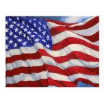 Amerikanische Flagge ~ Postkarte