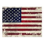 Amerikanische Flagge Postkarte