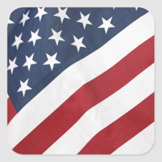 Amerikanische Flagge Quadratischer Aufkleber