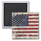 Amerikanische Flagge Quadratischer Magnet